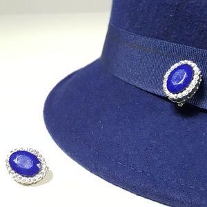 Jewelry - ROYAL BLUE CLIP ON EARRINGS